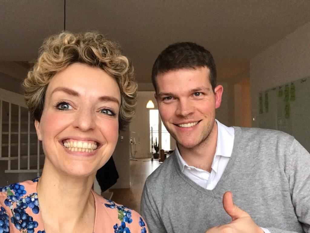 Inga und Moritz im Podcaststudio