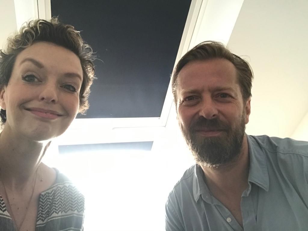 Inga Bergen und Bart de Witte im Berliner Podcast Studio